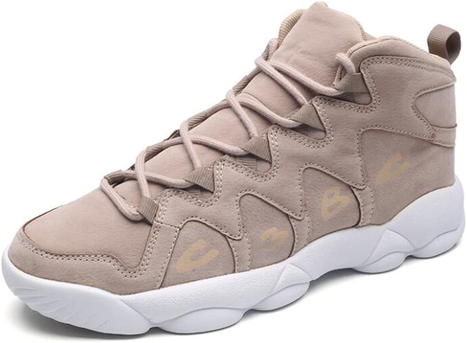 Beauqueen Students Sports shoes Round Toe Mid Tube Lace-up Basketball shoes Cool Design Anti-skid Soles Warm Autumn Winter shoes