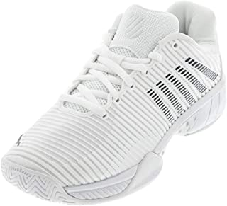 K-Swiss Women's Hypercourt Express 2 Tennis Shoe, White/Black (US Size 5.5)
