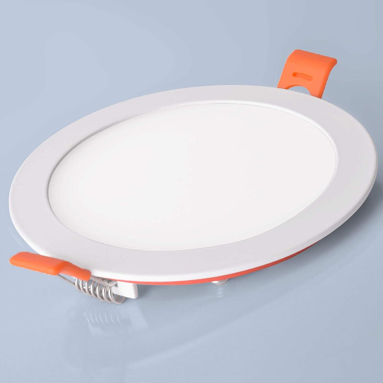 6er SET LED Panel 18W eckig flach ultraslim neutralweiß Einbaustrahler Spot Einbauspot Deckenleuchte Weiß 18w | Rund | Neutralweiß