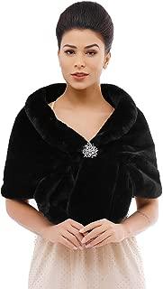 Women's 1920s Bridal Wedding Faux Fur Shawls and Wraps Rabbit Fur Stole for Women