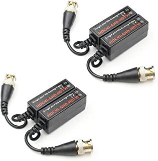 ANHAN Video Balun Passive UTP Transmitter Twisted Pair Video transceiver 2 Pairs