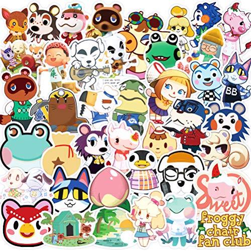 YUESEN Pack Pegatinas 100 Pcs Graffiti Stickers Vinals para Portátiles, Coche Motocicletas Automóviles Bicicletas Monopatines, Dhesivos de Animal Crossing para Niños