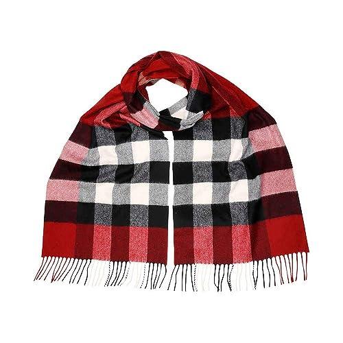 f93234e47f45 Burberry Women s Half Mega Check Scarf Red