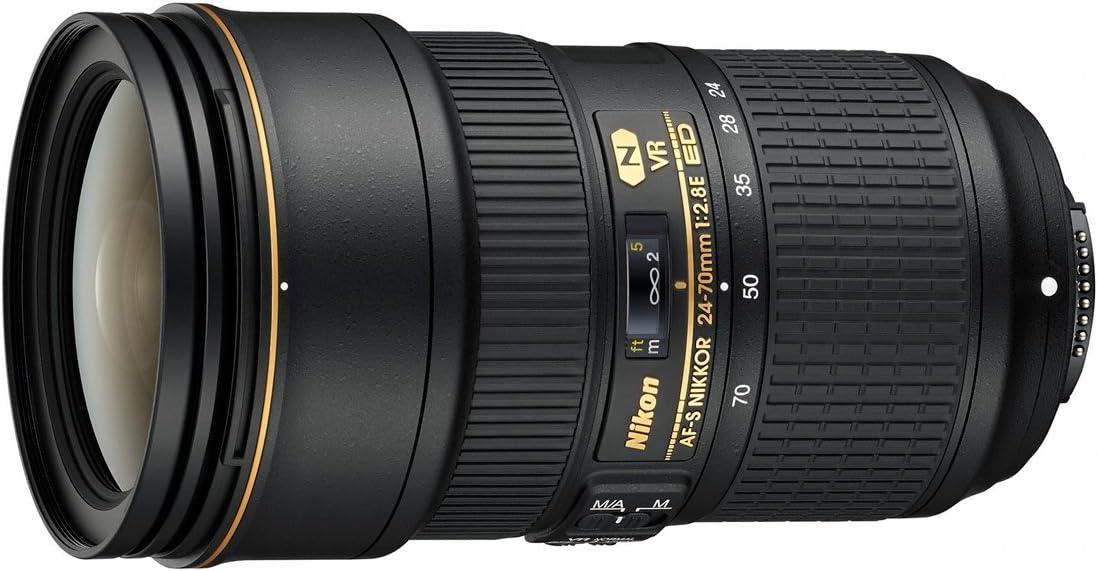 Nikon AF-S FX NIKKOR 24-70mm f/2.8E ED Vibration Reduction Zoom Lens with Auto Focus for Nikon DSLR Cameras (Renewed)