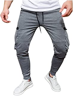 Sweatpants for Men Fashion Jogger Big and Tall Solid Stretch Casual Long Pants Running Classic Slim 2019 Warm Trousers