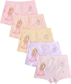 ABClothing 1.5T-10T Girls 4Pack Cotton Underwear Soft Trim Boyshorts Assorted Color
