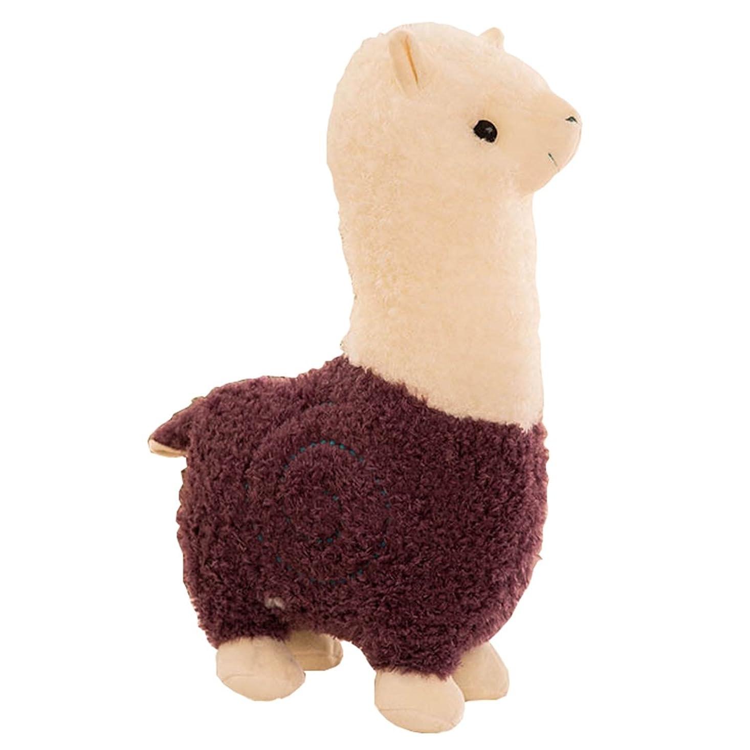 不格好晴れ庭園[XINXIKEJI]ぬいぐるみ 可愛い 抱き枕 プレゼント 羊 アルパカ 特大 動物 大きい おもちゃ ヒツジ 縫い包み お祝い ふわふわ 子供 お誕生日 お人形 女の子 女性 赤ちゃん 贈り物 彼女 萌え パープル 65CM