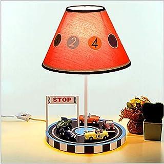 GDICONIC Lampe de Table Tissu de Lampe de Lampe Rouge Digital Light Children's Chambre en métal 220V Art Deco Lampe de Tab...