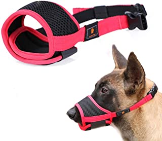 SMAROW Dog Muzzles for Barking, Red