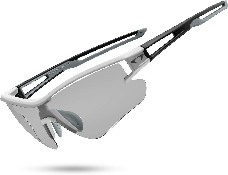 AALK Gafas de sol fotocromáticas deportivas polarizadas para hombres y mujeres MTB Ciclismo Gafas TR90 UV400 Protección Mountian Bike Seguridad Transición Glassess