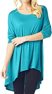 82 Days Womens Long Sleeve Tunic Top Wear with Leggings Plus Size Made in USA