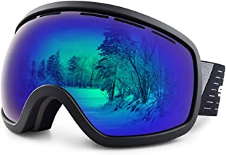 Snowledge Ski Snow Goggles Anti-Fog Ultraviolet Protection Over The Glasses Ski/Snowboard Goggles of Double Spherical Cool Lens for Men Women Adults
