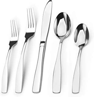 Silverware Set, Bysta 20-Piece Stainless Steel Flatware Set, Kitchen Utensil Set Service for 4, Tableware Cutlery Set for Home and Restaurant, Satin Finish, Dishwasher Safe