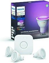 Philips Hue Starterkit - 3 Spots - GU10 - Duurzame LED Verlichting - Wit en Gekleurd Licht - Incl. Hue Bridge - Dimbaar - ...