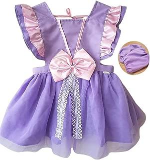 Princess Dress Up Clothes for Little Girls,Toddler Kids Snow White Sofia Costume Party Birthday Tutu Apron Dress