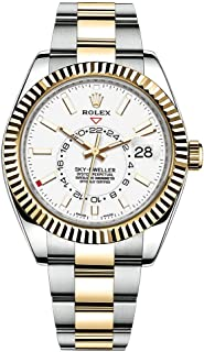 Sky-Dweller Automatic Men's 18kt Yellow Gold White Dial Oyster Watch 326933wh