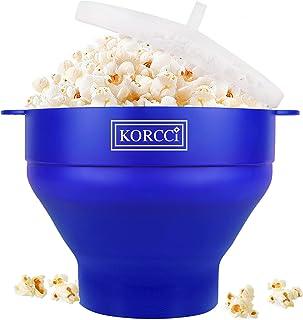 The Original Korcci Microwaveable Silicone Popcorn Popper, BPA Free Microwave Popcorn Popper, Collapsible Microwave Popcor...