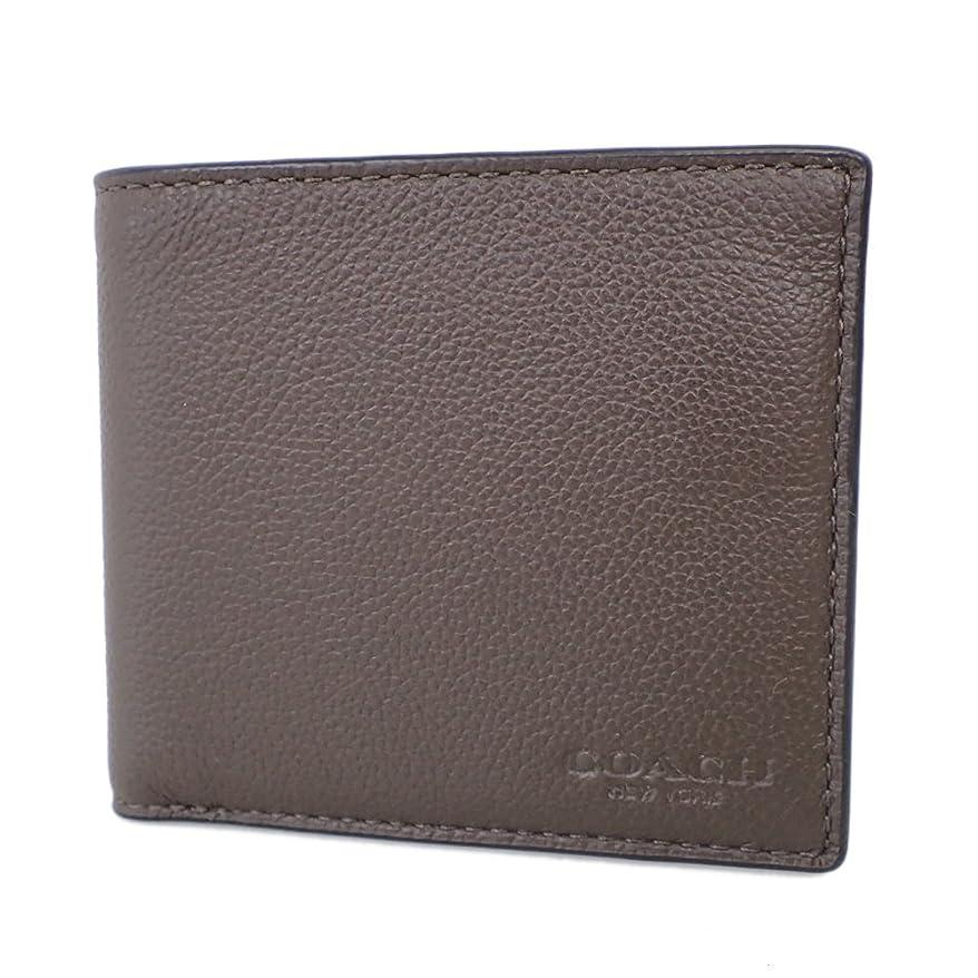 さわやか研磨剤くつろぎコーチ 財布 二つ折り財布 メンズ ブラウン系 F75084 [並行輸入品]