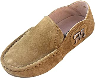 D.S.mor Boys Retro Soft Faux Suede Slip On Loafers Kids Shoes