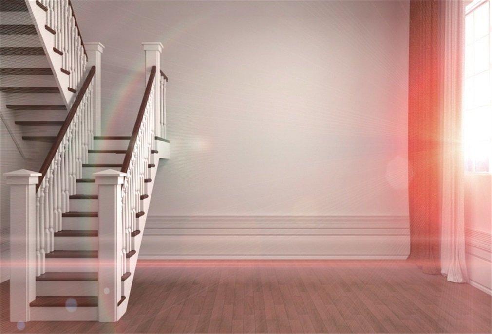 YongFoto 1,5x1m Fondo de Fotografia Interior Escaleras Caracol Elegantes Sun Ray Rainbow Pared Blanca Piso RIC Wood Telón de Fondo Fiesta Niños Boby Retrato Personal Estudio Fotográfico Accesorios: Amazon.es: Electrónica