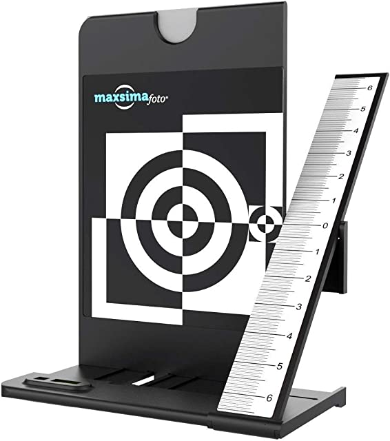 Maxsimafoto - Lens Focus Calibration Tool Alignment Ruler with White Balance Card …