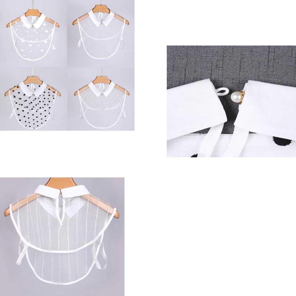 Black Temptation Cuello Camisa Blanca sólida, Cuello Falso, Camisa de Media caña para Mujer, Todas Las Estaciones, E04: Amazon.es: Deportes y aire libre
