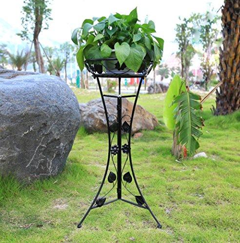huaji huapen Porte-fleur européen, porte-fleur en fer forgé, seul grand bassin fleur rack, type de plancher salon fleur pot rack balcon plante cadre vert jonquille orchidée bonsaï, extérieur sol vase