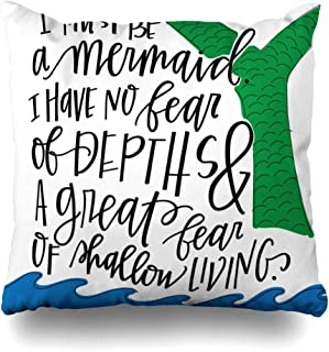 AlliuCoo Throw Pillow Covers Square Size 18