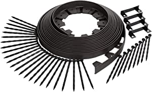Dimex EasyFlex Easy-Flex No-Dig Landscape Edging with Bonus Spikes for Lawn and Garden 50 Foot Section