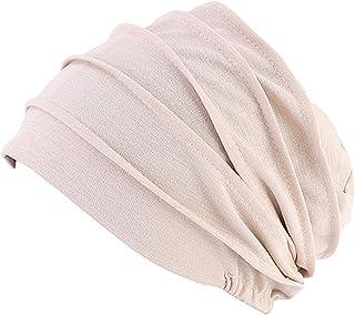 YONKINY Turbante Cappello Copricapo Cuffia da notte casa Elegante Cappello da Donna in Cotone Cappello per chemioterapia chemio