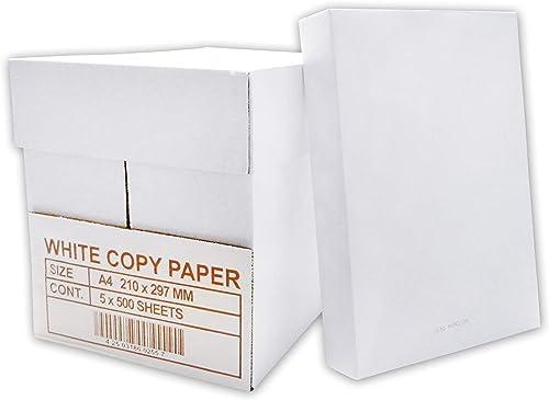 Versando - Papier pour imprimantes à encre ou laser, photocopieurs et fax, 2500 feuilles, A4, 75 g/m² couleur blanche