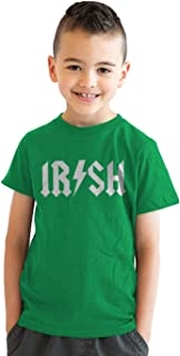 Kids Irish Rockstar Band Logo T Shirt Funny Rock Parody Youth Shirt