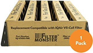 Activated Carbon Replacement Compatible with IQAir V5-Cell Gas & Odor Filter for HealthPro Series Air Purifier…