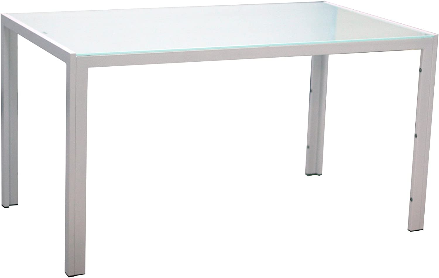 IDS Home Modern Kitchen Dining Top Table with White いつでも送料無料 開店祝い Glass