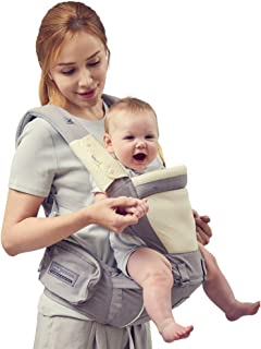 Bebamour Soft Style Designer Baby Carrier and Baby Sling Carrier 2 in 1 (Light Grey)