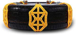 xj 8 Catene da Neve Neve Anti-Scivolo di Emergenza universali Guanti e Strumenti Installazione Universale Anti-Skid Snow Antiscivolo Regolabile per Auto//Camion//SUV