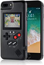 Handheld Retro Game Console Phone Case, Compatible with iPhone (Black, 6/6s/7/8 Plus) (Renewed)