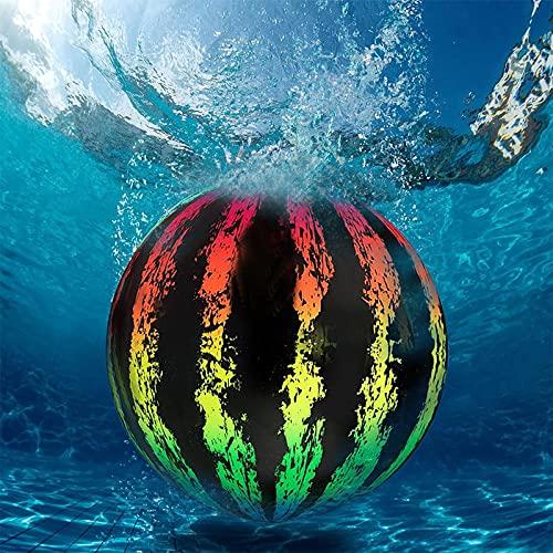 FANTCI Wassermelonen-Ball, Pool-Spielzeug für Unterwasserspiele Wassermelone Aufblasbarer Ball, Fußball, Basketball und Rugby für Wasserspiele Kinder, Jungen, Mädchen, Jugendliche oder Erwachsene