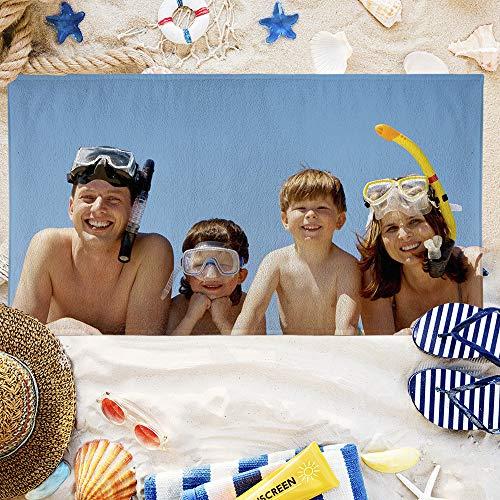 Personalisierte benutzerdefinierte Strandtuch mit Ihren eigenen Fotos (80 x 160 cm Strandtuch)