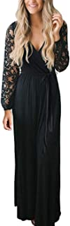 Best black lace maxi dress with sleeves Reviews