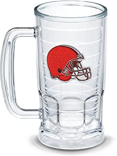 Tervis 1303308 NFL Cleveland Browns Primary Logo Insulated Tumbler with Emblem, 16oz Beer Mug, Clear