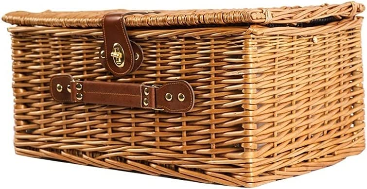 Outdoor Wicker Insulated Picnic Indefinitely Milwaukee Mall Basket with Picni Square Cutlery
