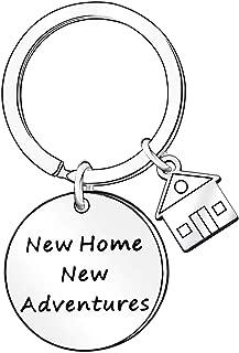 Llavero con Texto en inglés New Home New Adventures, Regalo para el hogar
