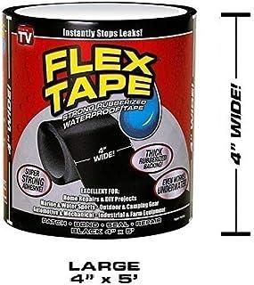 "Dlife Flex Tape Negro 4"" x 5'"