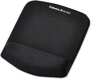 "Fellowes PlushTouch Mouse Pad w/Wrist Support-Mouse Pad/Wrist Rest w/Foam Fusion,7-1/4""x9-3/8""x1"",Black"