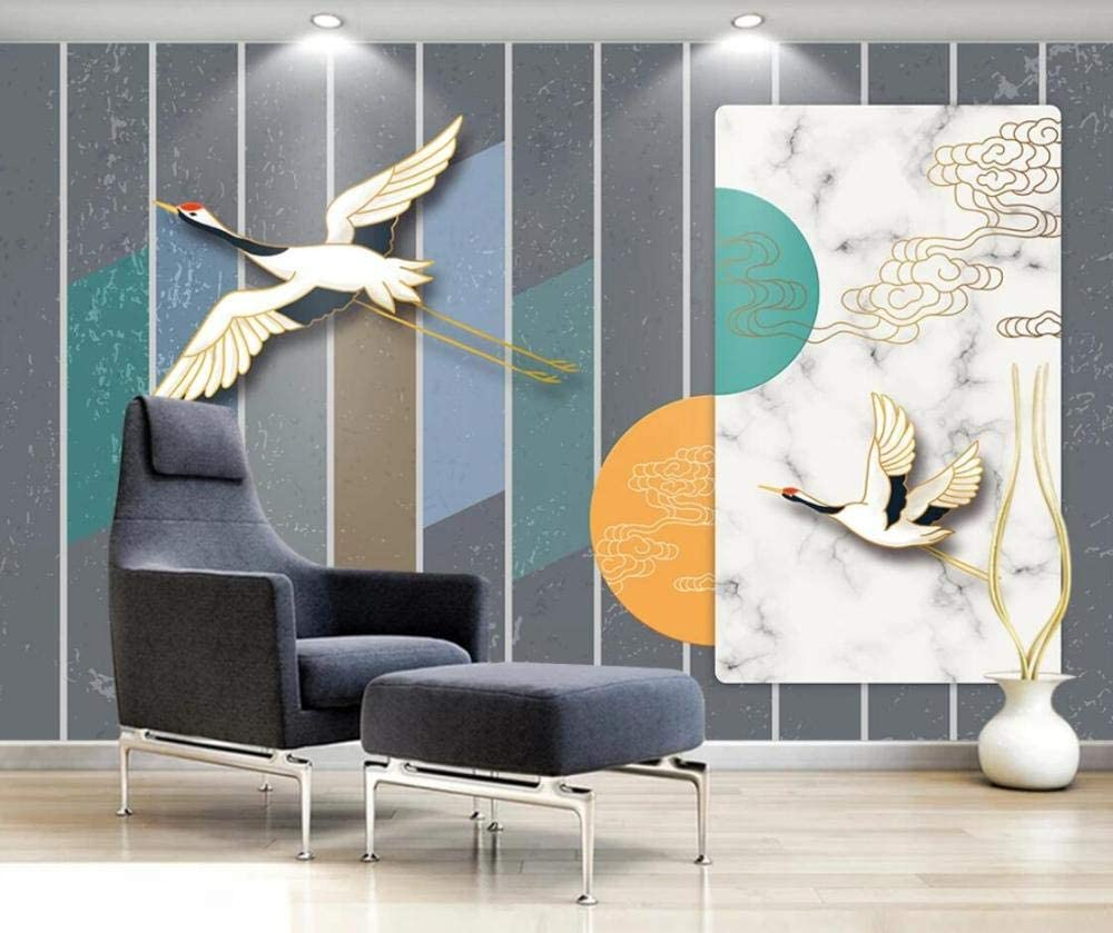 National products Wallpaper Murales 3D Marble Wall Bird Geometric Figure Online limited product