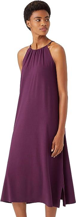 Full-Length Halter Dress in Fine Jersey