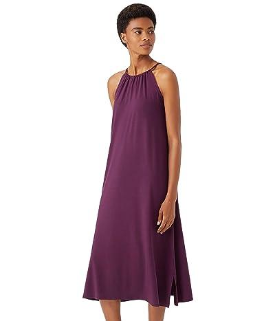 Eileen Fisher Full-Length Halter Dress in Fine Jersey