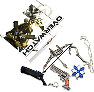 Overwatch McCree/Hanzo/Reaper Weapons Collection Sets Keychain/Necklace/Jewelry Cosplay Accessories