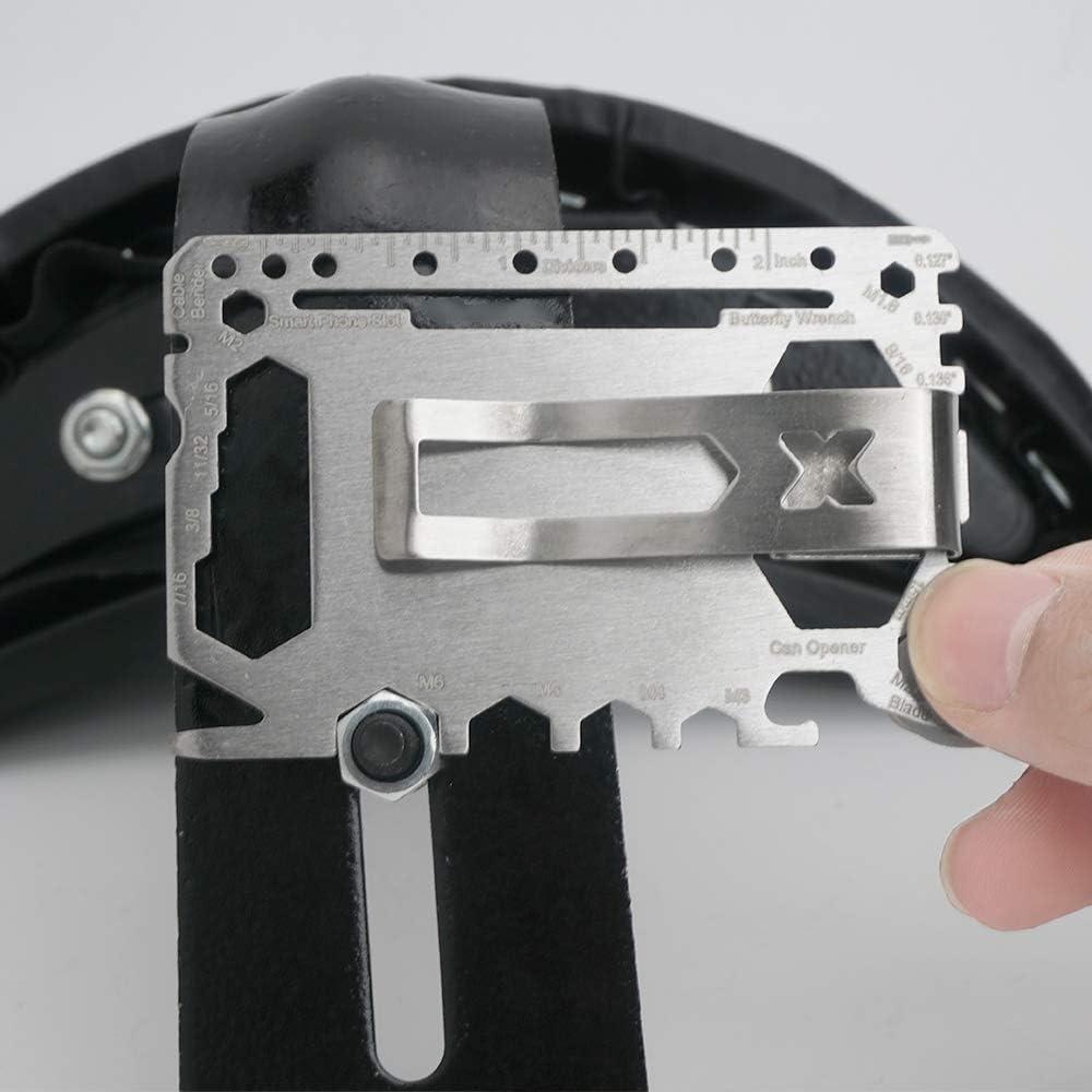 OOIOO Stainless Steel Multi-Functional Mutiltool with Money Clip for Beer Opener,Can Opener Black